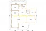 Большой зимний каркасный дом - планировка первого этажа