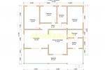 Просторный одноэтажный каркасный дом для постоянного проживания - планировка