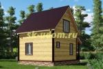 Каркасный дом 6х7 для зимнего проживания с эркером