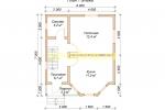 Каркасный дом 6х7 для зимнего проживания с эркером - планировка первого этажа