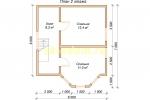 Каркасный дом 6х7 для зимнего проживания с эркером - планировка мансардного этажа