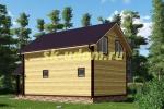 Проект двухэтажного каркасного дома 6х9.5 для постоянного проживания