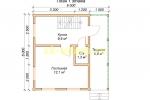Каркасный домик 6х6 - планировка первого этажа