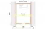 Каркасный домик 6х6 - планировка второго этажа