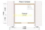 Каркасный домик 6х6 с мансардным этажом - планировка мансардного этажа