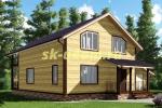 Каркасный дом. Проект ДК-34