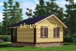 Каркасный дом. Проект ДК-40