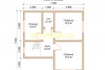 Каркасный дом. Проект ДК-55