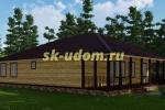 Каркасный дом. Проект ДК-58