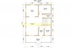 Проект каркасного дома 7.5х11 для постоянного проживания - планировка первого этажа
