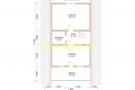 Проект каркасного дома 7.5х11 для постоянного проживания - планировка мансардного этажа