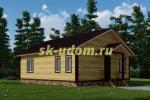 Каркасный дом. Проект ДК-72