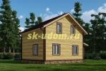 Каркасный дом. Проект ДК-75