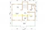 Каркасный дом для постоянного проживания 10х10.5 - планировка первого этажа