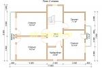 Каркасный дом для постоянного проживания 10х10.5 - планировка второго этажа