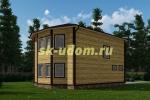 Каркасный дом. Проект ДК-80