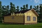 Каркасный дом. Проект ДК-83