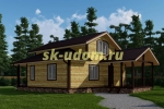 Каркасный дом. Проект ДК-84