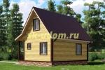 Каркасный дом для постоянного проживания 7х7