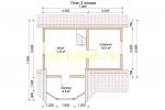 Каркасный дом для постоянного проживания 7х7 - планировка второго этажа